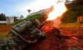 火焰喷射器钢瓶被子弹击中会爆炸吗?